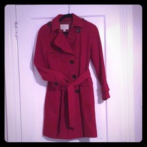 Red Banana Republic wool trench coat XS